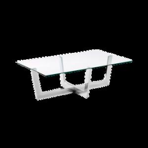 PLUM soffbord 70×120 cm Transparent