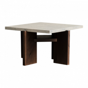 ASPVIK 04 soffbord 60×60 cm Mörkbrun