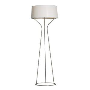 Aria golvlampa rostfritt stål, vit skärm