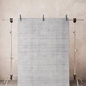 BONNE slätvävd matta Silvergrå