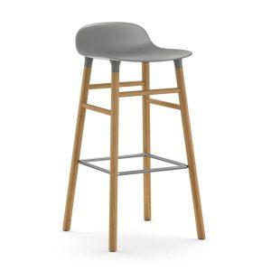 Form Chair barstol ekben grå