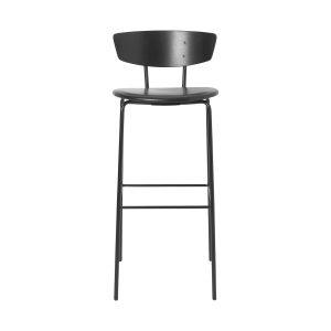 Herman barstol med lädersits hög svart