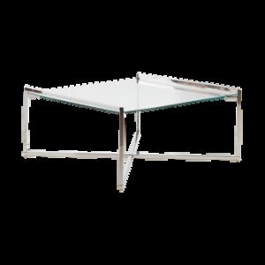 IGGY soffbord 90×90 cm Krom