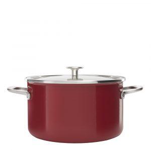 KitchenAid – Steel Core Enamel Gryta Emalj/Glaslock 6 L Röd
