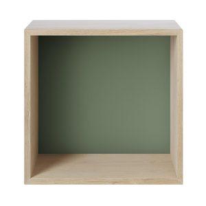 Mini stacked 2.0 hyllsystem, medium ek, grön