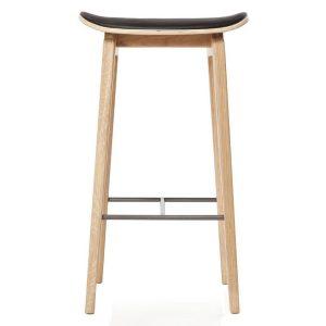 NY11 barstol med lädersits ek 65 cm Ultra black