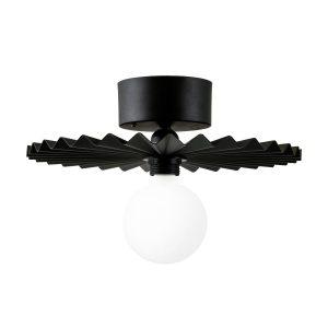 Omega plafond/vägglampa 35 cm Svart