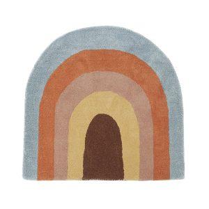Rainbow barnmatta 88×90 cm Multi