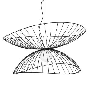 Ray taklampa Ø115 cm Svart