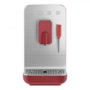 Smeg – 50's Style Helautomatisk Kaffemaskin Mjölkskummare Röd