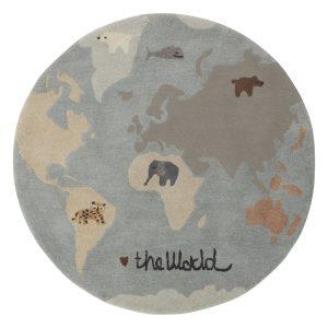 The world barnmatta Ø120 cm Multi