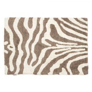 Zebra badrumsmatta 60×90 cm Simply taupe-vit