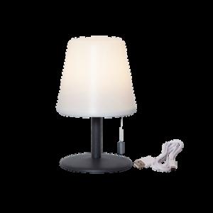 Bordslampa Gardenlight Kreta USB Vit