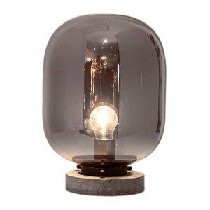 Leola bordslampa Svart marmor-rökgrå