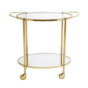 FINE Serveringsvagn Glas Guld