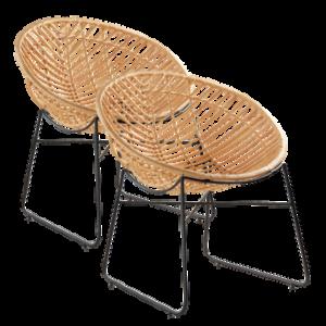 KASAI stol 2-pack Natur