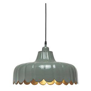 WELLS Taklampa Grön 43cm