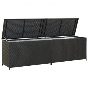 vidaXL Dynbox konstrotting 200x50x60 cm svart