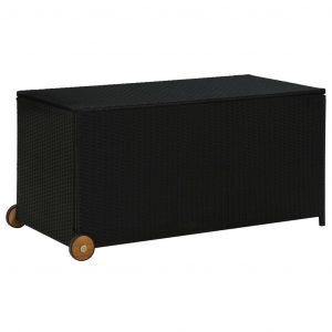 vidaXL Dynbox svart 120x65x61 cm konstrotting