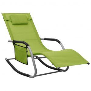 vidaXL Solstol textilen grön och grå