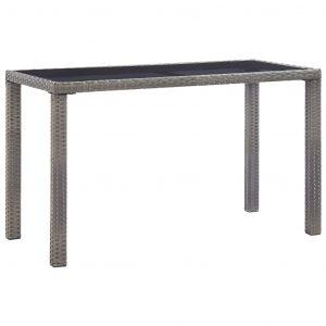 vidaXL Trädgårdsbord antracit 123x60x74 cm konstrotting