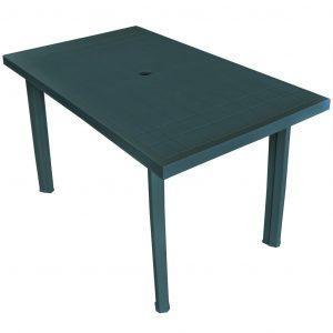 vidaXL Trädgårdsbord grön 126x76x72 cm plast