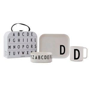Design Letters barnservis set D