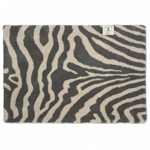Dörrmatta Zebra Titanium/Vit 60×90 cm