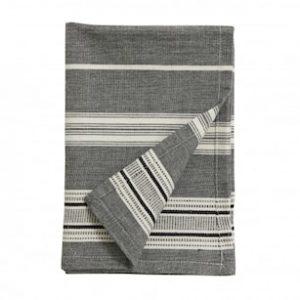 ORION Kökshandduk Off White/Svart Stripes