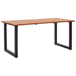 vidaXL Trädgårdsbord med U-formade ben 160x80x75 cm massivt akaciaträ